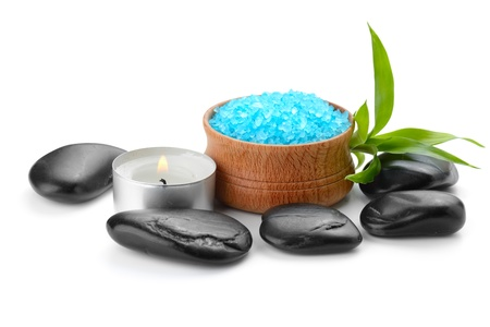spa composition with soap and toning sea crystals photo