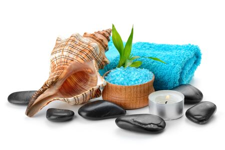 spa composition with soap and toning sea crystals Stock Photo - 17121452