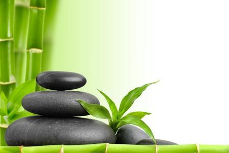 zen basalt stones and bamboo Stock Photo - 17121239