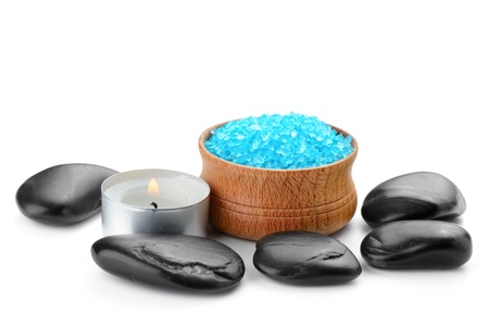 spa composition with  toning sea crystals photo