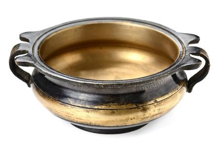 bronze bowl: Old antique vintage bronze bowl