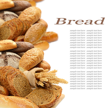 fresh bread on the white background photo