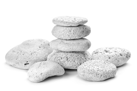 white pebble: zen stones on the white background