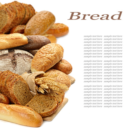 life loaf: fresh bread on the white background