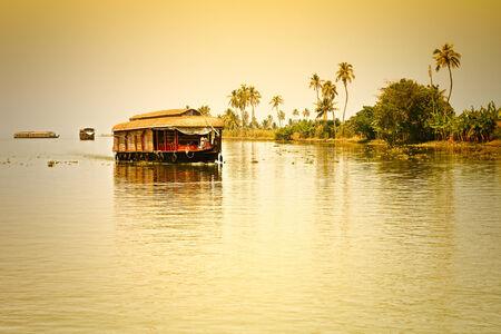 Traditional Inian house boat .Kerala photo