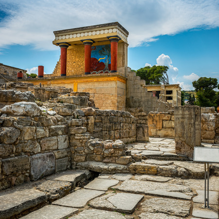 Knoss palace on the Crete,Greece photo