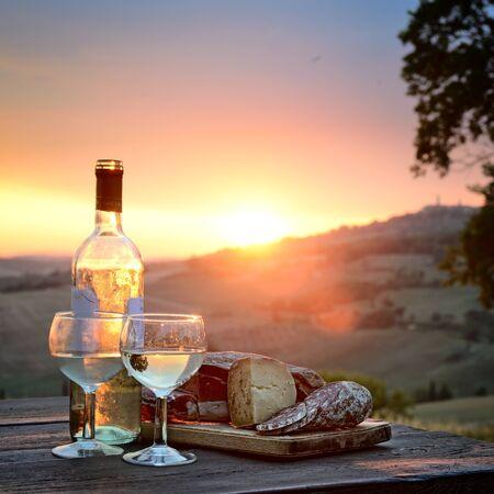 agriturismo: Beautiful summer landscape of Tuscany, Italy. Stock Photo