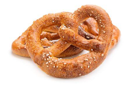 pretzels: pretzels isolated on white