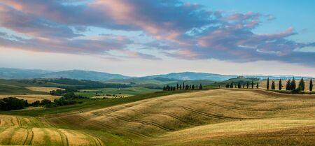 Beautiful summer landscape of Tuscany, Italy. Stock Photo