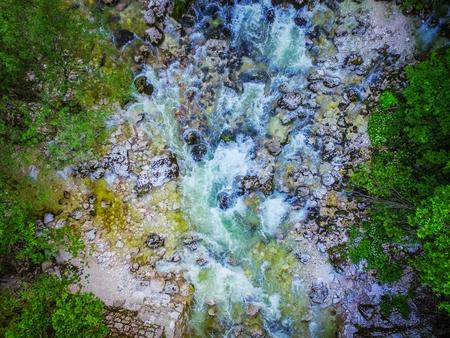 山川の空中写真