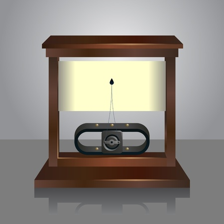 photorealistic vector illustration of a galvanometer