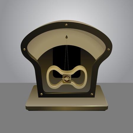 ammeter: photorealistic vector illustration of a galvanometer