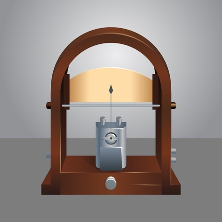 galvanometer: photorealistic vector illustration of a galvanometer
