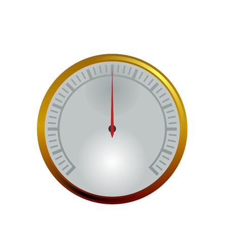 illustrazione vettoriale di un manometro