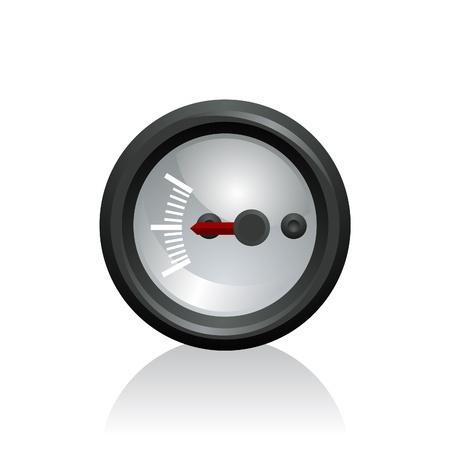 speed test: vector illustration of a gauge