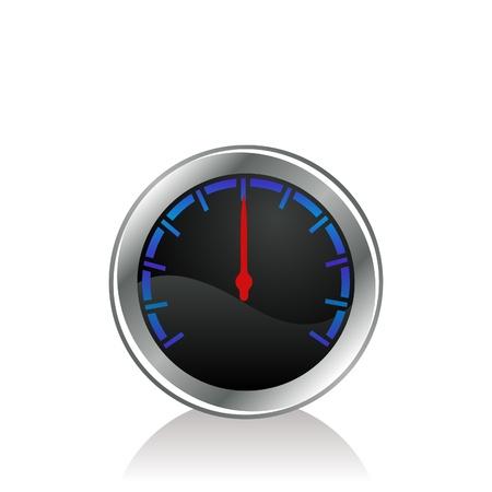 mesure: vector illustration of a gauge