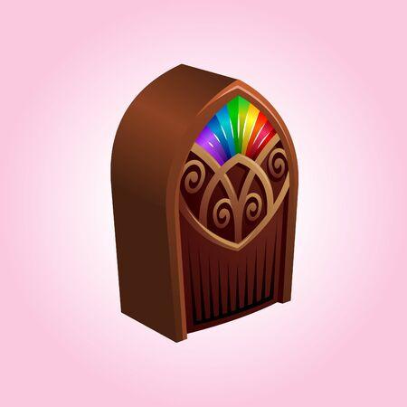 jukebox: iconic illustration of a colorful jukebox