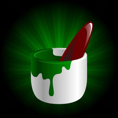 vector illustration of paint brush