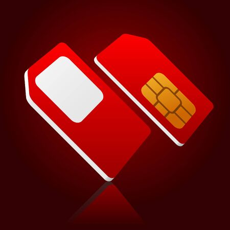 standard red sim card