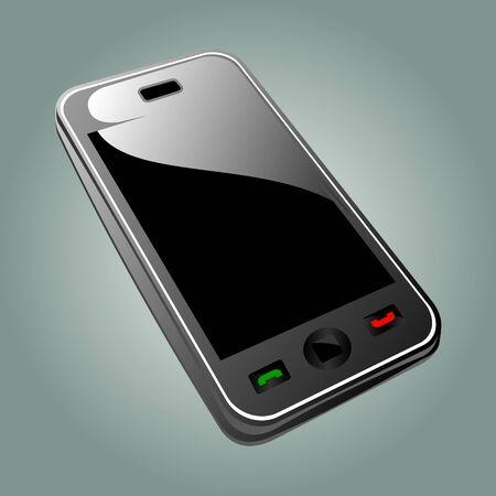 simplistic modern smartphone illustration