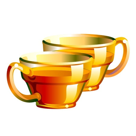illustration of a shiny and transparent tea cup Illustration