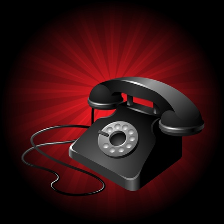 clean and simplistic vector illustration of a telephone set Illustration
