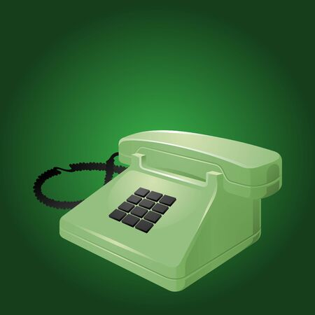 clean and simplistic vector illustration of a telephone set Vector