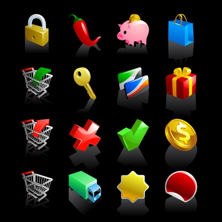 e-commerce iconset Vector