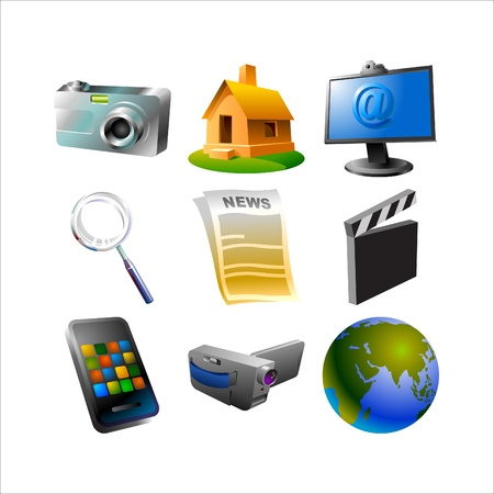 news and media iconset Illustration