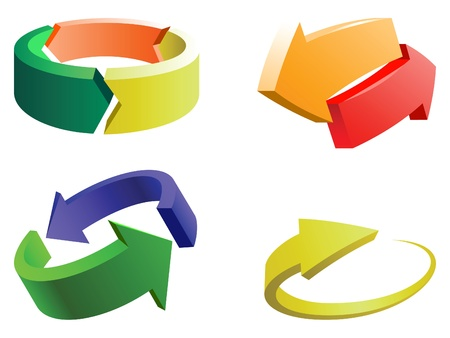 a set of four colorful and creative arrows design elements
