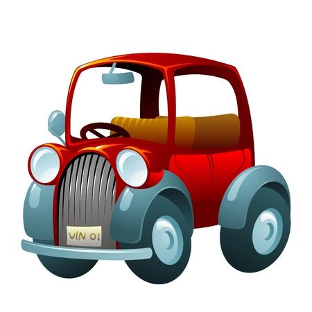 voiture ancienne: voiture vintage de dessin anim� Illustration