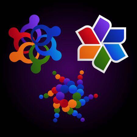 colorful community design element Stock Vector - 10121806