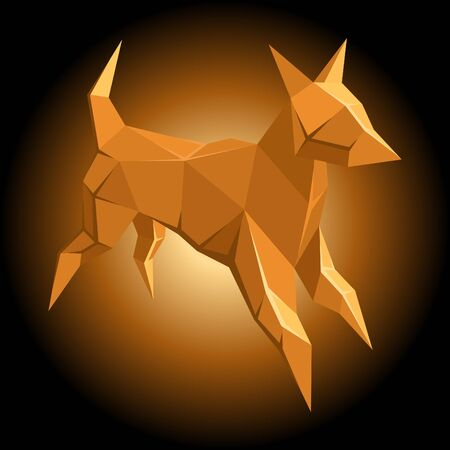 dog design element Illustration