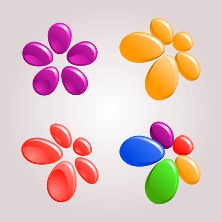 fruitful: decorative floral design elements Illustration