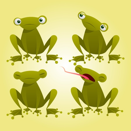 isolated frog cartoon Illustration
