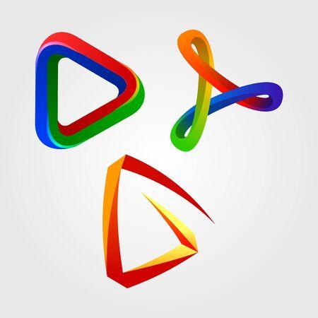 infinity design elements Vector