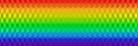 rainbow cubes background