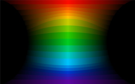 abstract rainbow strips over dark background