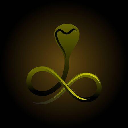 simplistic snake vector graphics Stock Vector - 10121826