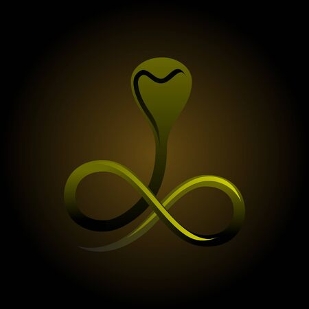 snake origami: simplistic snake vector graphics Illustration