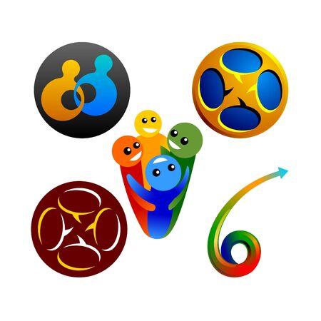 social graphics design elements Stock Vector - 10121694