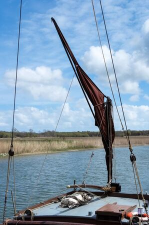 barge: Sailing Barge Sail and Rigging Stock Photo