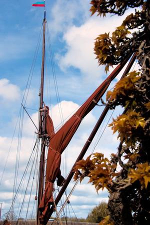 Sailing Barge Sail and Rigging Imagens