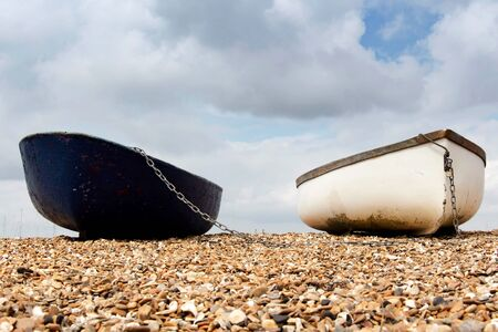 foreshore: Row boats moored on the foreshore