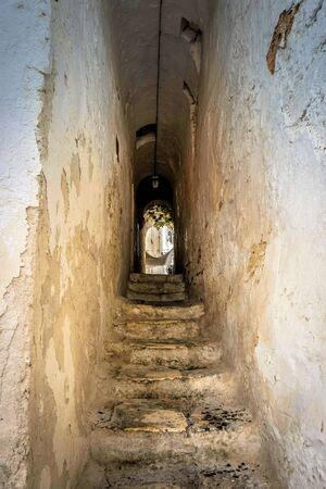 Medieval stairway leading up