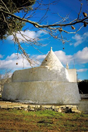 dwellings: Trulli of Puglia in Italy conical dwellings