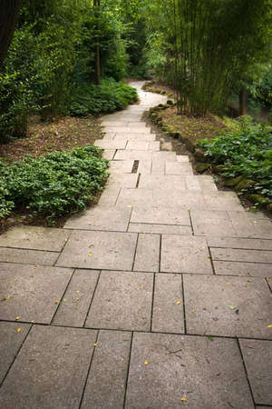 Japanese garden pathway Stock Photo