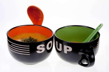 Soup Bowls Stock Photo