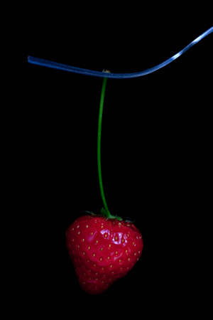 Strawberry on a fork