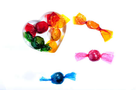 Colorful sweets with a heart Stock Photo